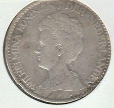 Netherlands 1916 1 Gulden Silver Coin KM-148 VF
