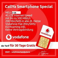 Vodafone Smartphone Special -CallYa Prepaid Sim Karte LTE 4G 10 euro Startguth.