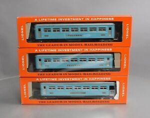 Lionel 2630S Vintage O Pre-war Tinplate Blue/Silver Passenger Cars (Set of 3)