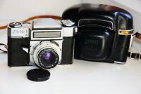 """VERY RARE ZENIT-4 EXPORT Soviet SLR 35mm film camera  w/s lens """"VEGA-3"""" AS IS"""