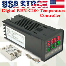 Lcd Pid Rex C100 Temperature Controller Ssr 40a K Thermocouple Heat Sink H2f0