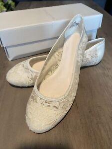 Melissa Sweet lace ballet flat wedding shoes size 9