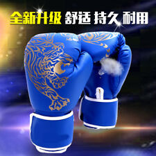 Blue Kids Men MMA Taekwondo Martial Arts Boxing Gloves Karate Training Zsell