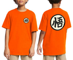 Kids Dragon Ball Z Shirt Kanji Goku T-shirt Anime dragonball Youth Tee XS-XL