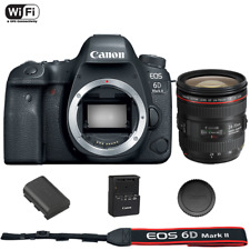 Canon EOS 6D Mark II DSLR Camera Body with EF 24-70mm f/4L IS USM Lens
