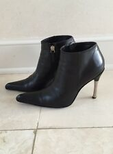 Les Copains Black With Metal Heel Boots Booties In Size 37