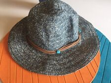 $79 - Saks Fifth Avenue Hat Turquoise Stones Women's Large