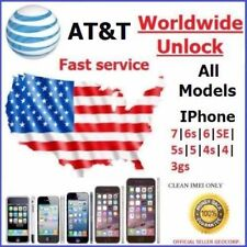 FACTORY UNLOCK CODE SERVICE AT&T IPHONE 7 6S 6 SE 5S 5C 5 4S 4 ATT FAST