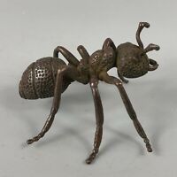 Collectible Old Antique Chinese Handwork Copper Lifelike Ant Move House Statue