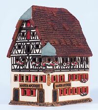 Ceramic house tea light holder 'Marienapotheke in Rothenburg', 12 cm, © Midene