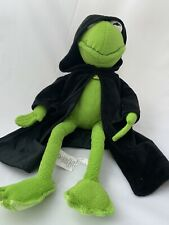 "Evil Kermit Frog Constantine Muppets Disney Stuffed Plush 18"" Black Cloak Mole"