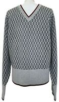 NEW, BROOKS BROTHERS BLACK FLEECE MEN'S GRAY WOOL V-NECK SWEATER, $425