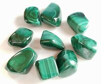 1/4 lb Tumbled Malachite Crystal Gemstones Bulk Rock 4-6 Pieces Stone Healing