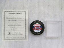 Montreal Canadiens HOF Guy LaFleur Gold Hand Signature NHL Hockey Puck w/COA