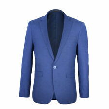 Solid Men's Suit Slim Blue Business Leisure Suit Jacket Blazers Jacket Coat
