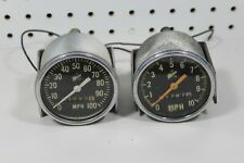 2 Used Vintage 70's Polaris Snowmobile 100 mph Speedometer Parts or Repair