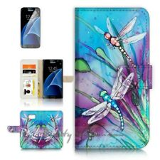 ( For Samsung S7 ) Wallet Case Cover P21094 Dragonfly