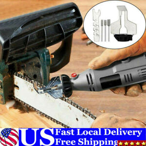 Chainsaw Sharpener Electric Grinder Chain Saw Grinder File Tool Attachment US