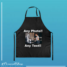 More details for personalised apron custom printed master head cooking chef logo text any photo
