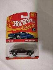 Hot Wheels Classics Series 1 - 1/64 Scale - 1968 Mustang - On Card - Purple