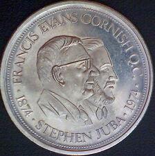1974 Winnipeg Manitoba- Steven Juba-Francis Evans Cornish Centennial Dollar Coin