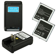 2X2600 MAH 3.8V Battery+Dock Charger For Samsung Galaxy S4 I9500 I9505 L720 M919