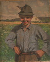 Clothilde Tschuppik (German, 1865-1926): Portrait of a young peasant boy