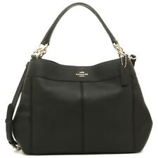 NWT Coach F28992 Small Lexy Pebbled Leather Shoulder Bag Crossbody Black