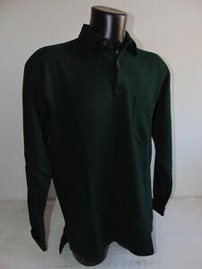 Vintage 90 RALPH LAUREN XL Maglione Polo Lana Sweater Verde Maglia Lungo