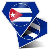 2 x Diamond Stickers 7.5 cm - Cool Cuba Caribbean Havana  #9159