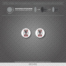6049 - Helyett Bicycle Handlebar Bar End Plug Stickers - Decals