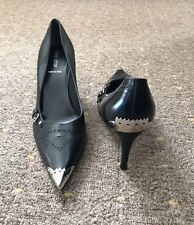 Miu Miu Leather Stilettos Pointed Heels Court Shoes Sz 38 (5)