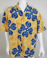 Box Office Island Mens Hawaiian Shirt Size XL Button Front Short Sleeve Party
