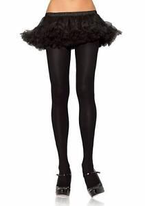 Leg Avenue Sexy Opaque Microfiber Tights Pantyhose - White or Black