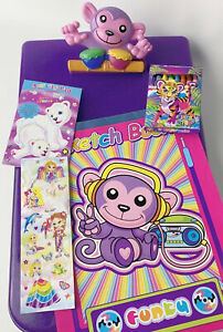 Lisa Frank Desk Caddy MONKEY Clipboard Storage Organizer Art Lot & Stickers