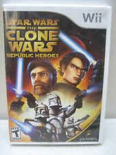 NINTENDO WII STAR WARS THE CLONE WARS REPUBLIC HEROES GAME COMPLETE & TESTED