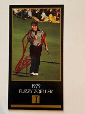 Fuzzy Zoeller 1979 Masters Signed Black Masters Card JSA COA