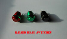 12mm Momentary Push Button Switch Horn Doorbell Car Dashboard Dash RAISED Car