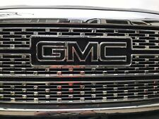 Gmc Sierra Emblem Overlay Decal Gloss Black Front & Rear | Precut | No Cutting