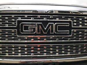 GMC Sierra Emblem Overlay Decal GLOSS BLACK Front & Rear | PRECUT | NO CUTTING