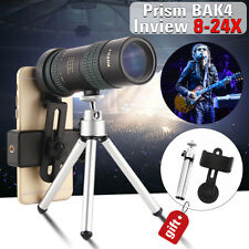 8-24x30 Zoom Monocular BAK4 Optic Lens Telescope Outdoor Travel Phone Shooting