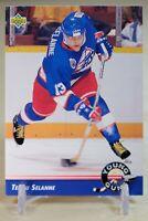 Teemu Selanne Rookie 1992/93 Upper Deck Young Guns #574 Winnipeg Jets See Photos