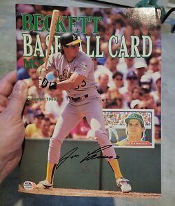 Beckett Baseball Magazine November 1988- Signed by Jose Canseco