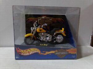 Hot Wheels Harley-Davidson Heritage Fat Boy Yellow 1:18 Scale 063021DMT