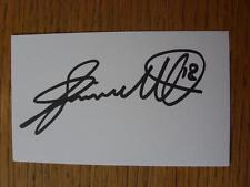 50's-2000's Autographed White Card: Smith, Jimmy - Norwich City