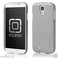 Genuine Incipio Feather Shine Shell Case Cover For Samsung Galaxy S4 Silver NEW