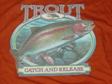 Rainbow TROUT Catch & Release T-Shirt fly  Fishing   sz    NEW ... Large