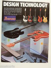 retro magazine advert 1985 IBANEZ roadster