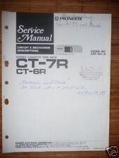 MANUAL DE SERVICIO Pioneer ct-7r Unidad de cinta, original