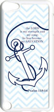 Chevron Faith Anchor with Psalm 118:14 on iPod Touch 5th Gen 5G White TPU Case